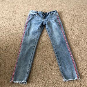 Joe's Jeans Red Side Detail